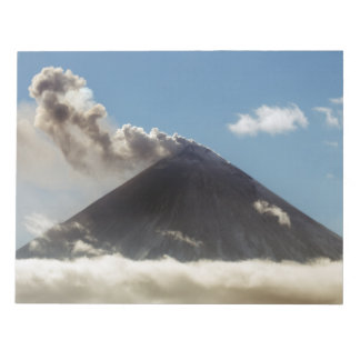 Beautiful peak erupting volcano notepad