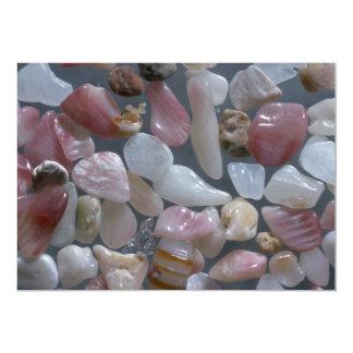 "Beautiful Pebbles from Coromandel, New Zealand 5"" X 7"" Invitation Card"