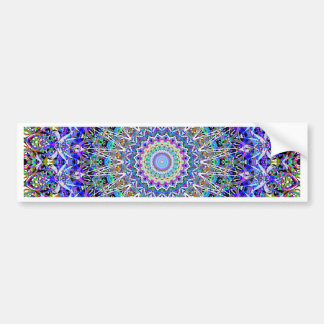 Beautiful Persian Blue Kaledoscope Bumper Sticker
