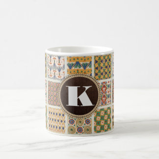 Beautiful Persian Patterns w/Monogram Coffee Mug