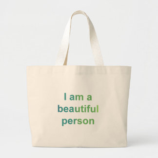 Beautiful person blue bags