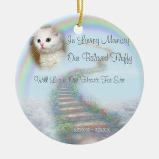 Beautiful Personalised Pet Memorial with Prayer Round Ceramic Decoration