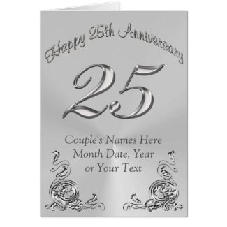 Personalized 25th Anniversary Cards
