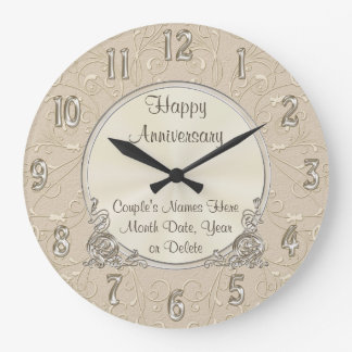 Beautiful PERSONALIZED Anniversary Clock