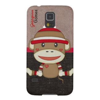 Beautiful Personalized Custom Sock Monkey Galaxy S5 Case