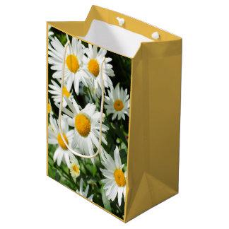 Beautiful personalized daisies gift bag medium gift bag