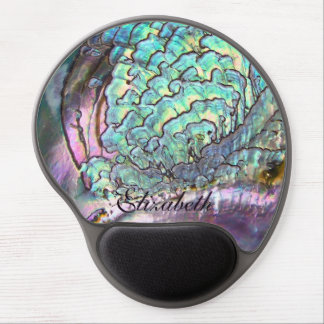 Beautiful Personalized Iridescent Natural Abalone Gel Mouse Mat