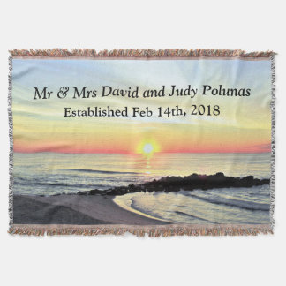 BEAUTIFUL PERSONALIZED WEDDING OR FAMILY BLANKET