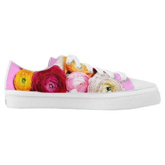 Beautiful petals printed shoes