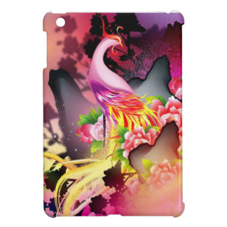 beautiful phoenix bird colourful background image iPad mini case