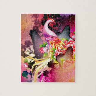 beautiful phoenix bird colourful background image jigsaw puzzle