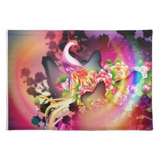 beautiful phoenix bird colourful background image placemat