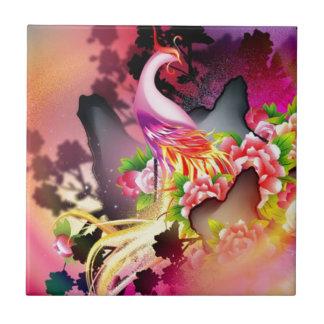 beautiful phoenix bird colourful background image tile