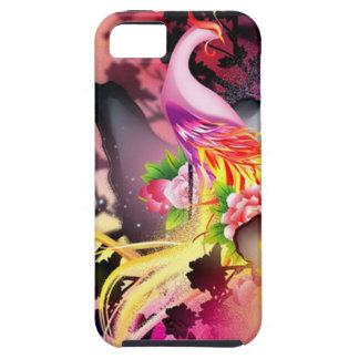 beautiful phoenix bird colourful background image tough iPhone 5 case