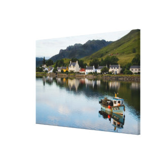 Beautiful  photo of small village of Dornie with Canvas Print