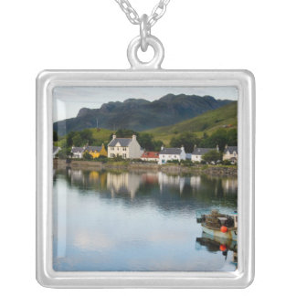 Beautiful  photo of small village of Dornie with Silver Plated Necklace