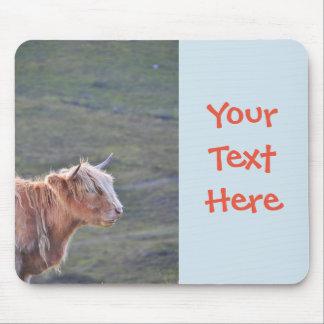 Beautiful Photograph Long Hair Cattle Heifer Horns Mouse Mat