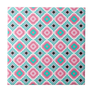 Beautiful Pink and Blue Tile