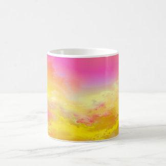 Beautiful pink and yellow girly mug