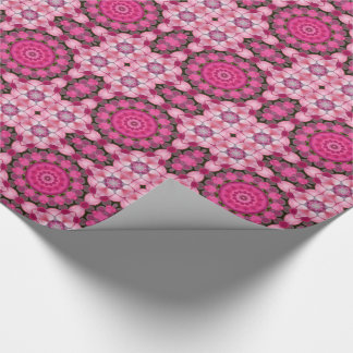 Beautiful pink Blossoms 001F 03, Nature Mandala Wrapping Paper
