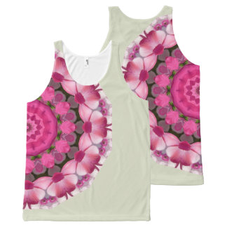Beautiful pink Blossoms 002 02.5.2, Nature Mandala All-Over Print Tank Top