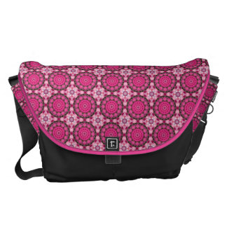 Beautiful pink Blossoms 02.3, Nature Mandala Courier Bags