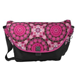 Beautiful pink Blossoms, Nature Mandala Messenger Bag