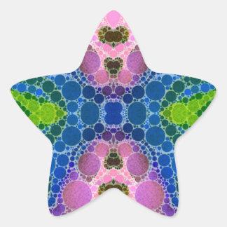 Beautiful Pink Blue Abstract Star Sticker