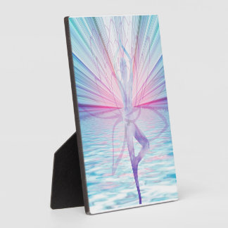 Beautiful Pink & Blue Vrikshasana Yoga Plaque
