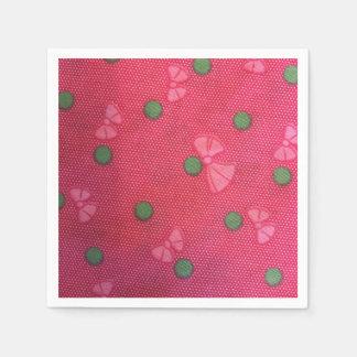 Beautiful pink bows paper napkin