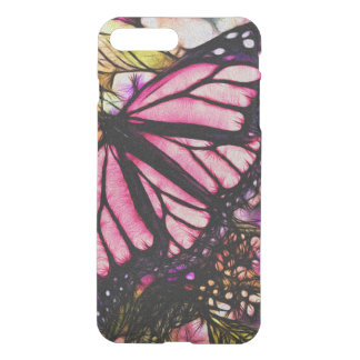 Beautiful Pink Butterfly Abstract iPhone 7 Plus Case