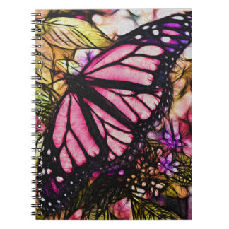 Beautiful Pink Butterfly Abstract Notebooks