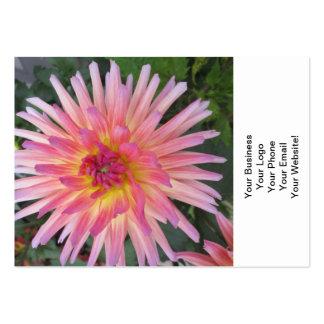Beautiful Pink Dahlia Flower Business Card Template