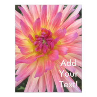 Beautiful Pink Dahlia Flower Magnetic Invitations