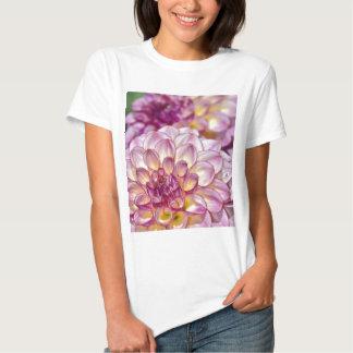 Beautiful pink dahlia flowers shirts
