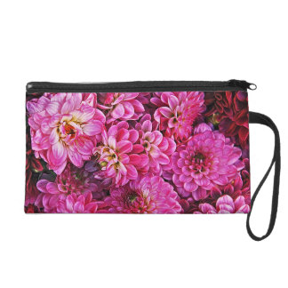 Beautiful pink dahlias wristlets
