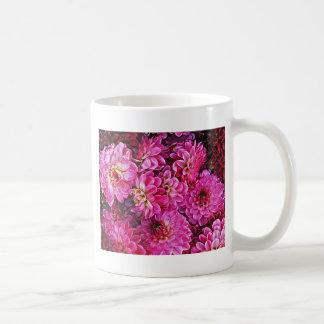 Beautiful pink dahlias coffee mug