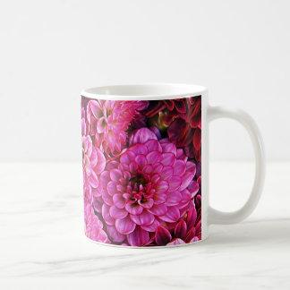 Beautiful pink dahlias coffee mugs