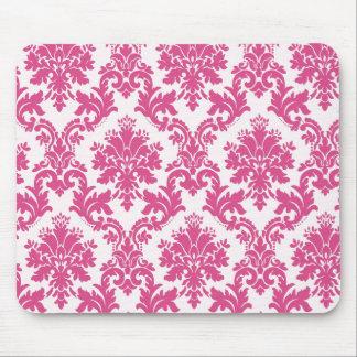 Beautiful Pink Damask Mouse Pad