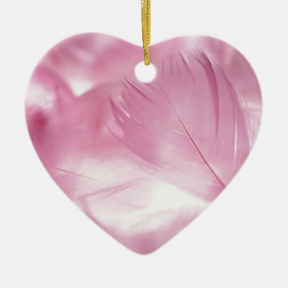Beautiful Pink Feather Christmas Ornament