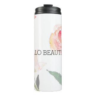 Beautiful Pink Floral Thermal Tumbler