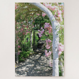 Beautiful Pink Flower Arch Puzzle