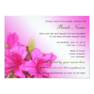 Beautiful pink  flower bridal shower invitation