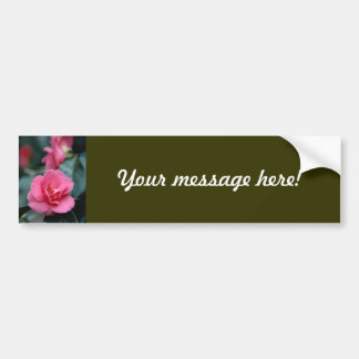 Beautiful Pink Flower Bumper Sticker