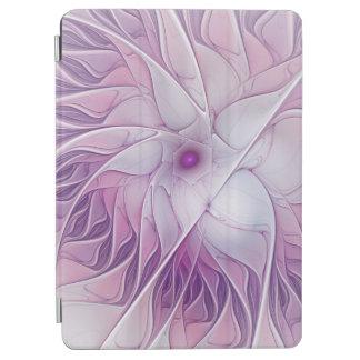 Beautiful Pink Flower Modern Abstract Fractal Art iPad Air Cover