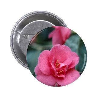 Beautiful Pink Flower Pinback Button