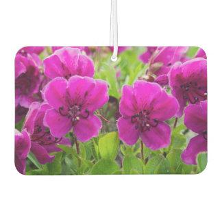 Beautiful pink flowers car air freshener