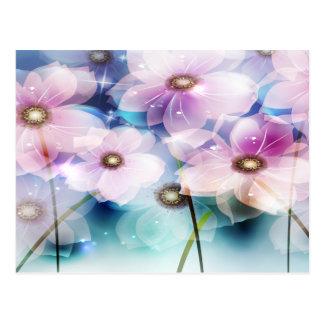 Beautiful Pink Flowers Postcard