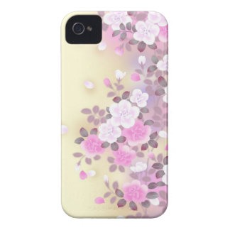 Beautiful pink flowers vector art iPhone 4 Case-Mate cases