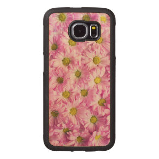 Beautiful Pink Flowers Wood Phone Case